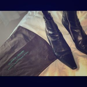 Donald Pliner leather ankle boots